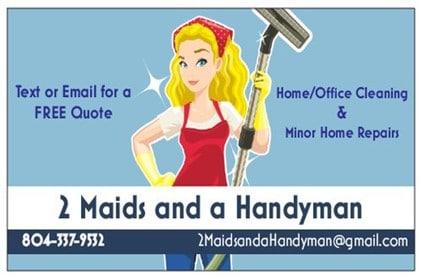 2 maids and a handyman  logo