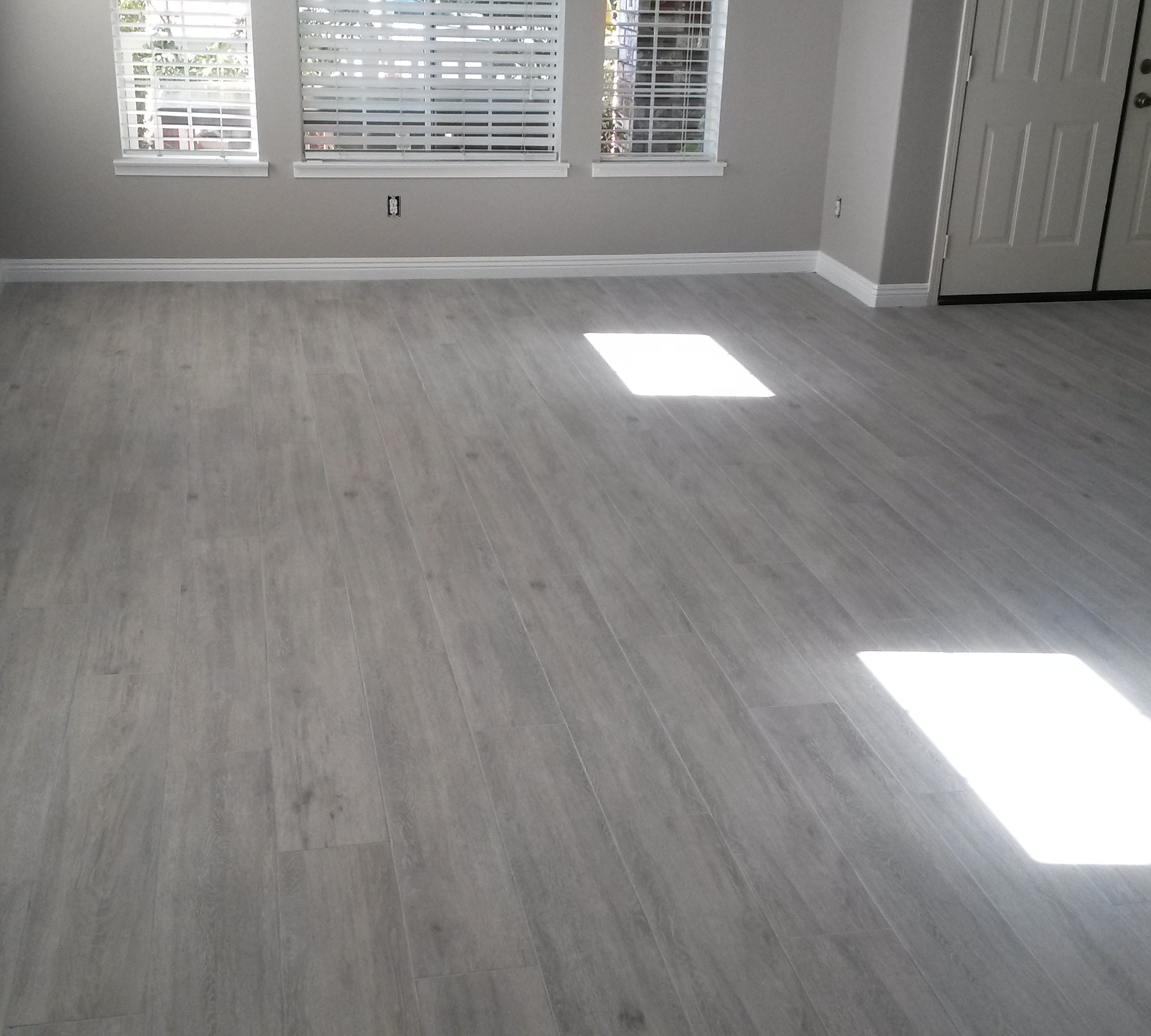 Large Grey Porcelain Wood Tile Planks
