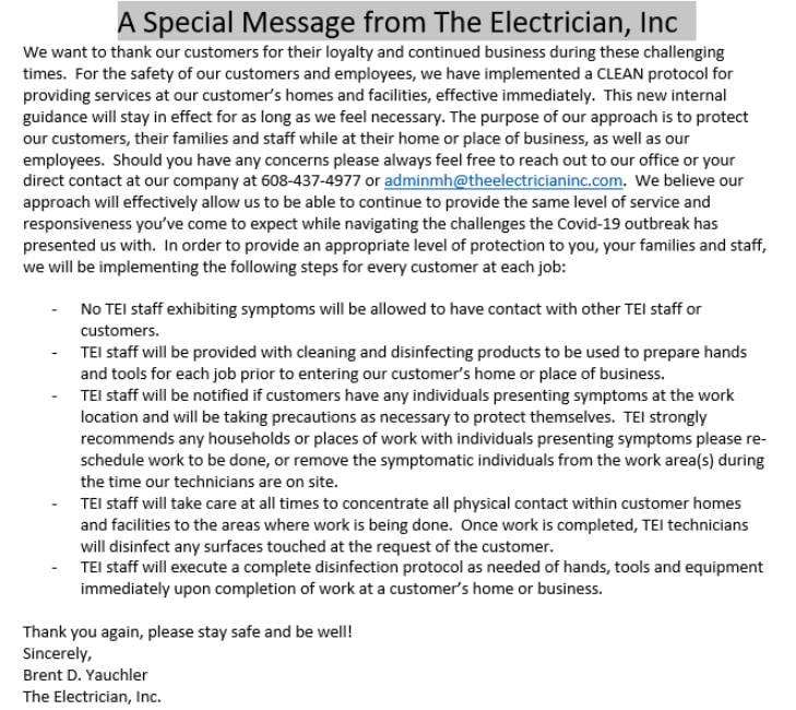 The Electrician Inc logo