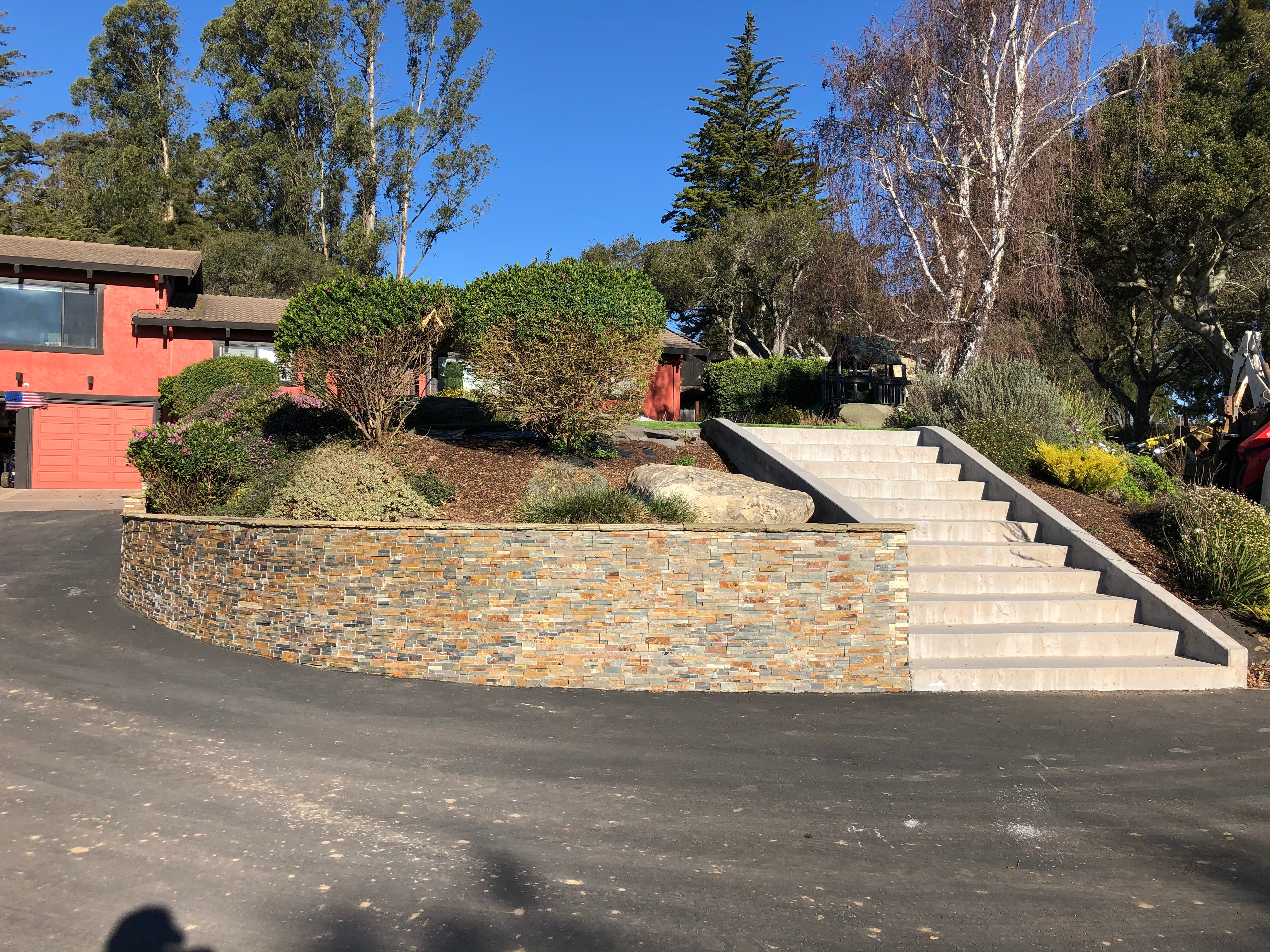 Retaining Wall and Concrete Stairs