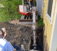 Sewer Work with Excavation