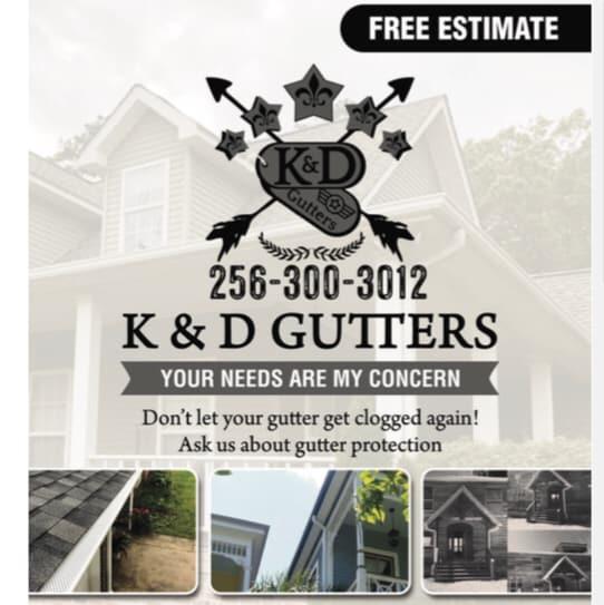 K&D Gutters logo