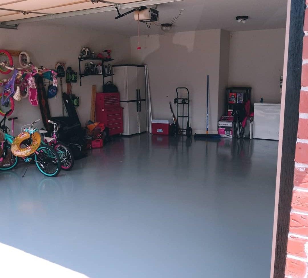 Larry's garage floor