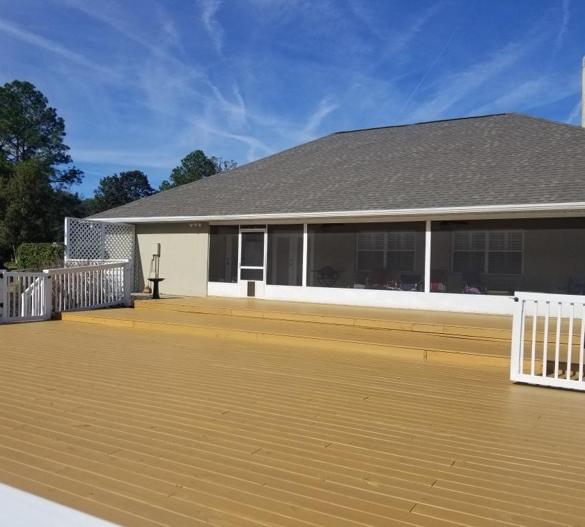 Deck remediation, paint, and stain