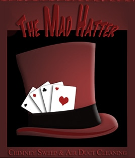 THE MAD HATTER AIR DUCT CLEANING & CHIMNEY SWEEPIN logo