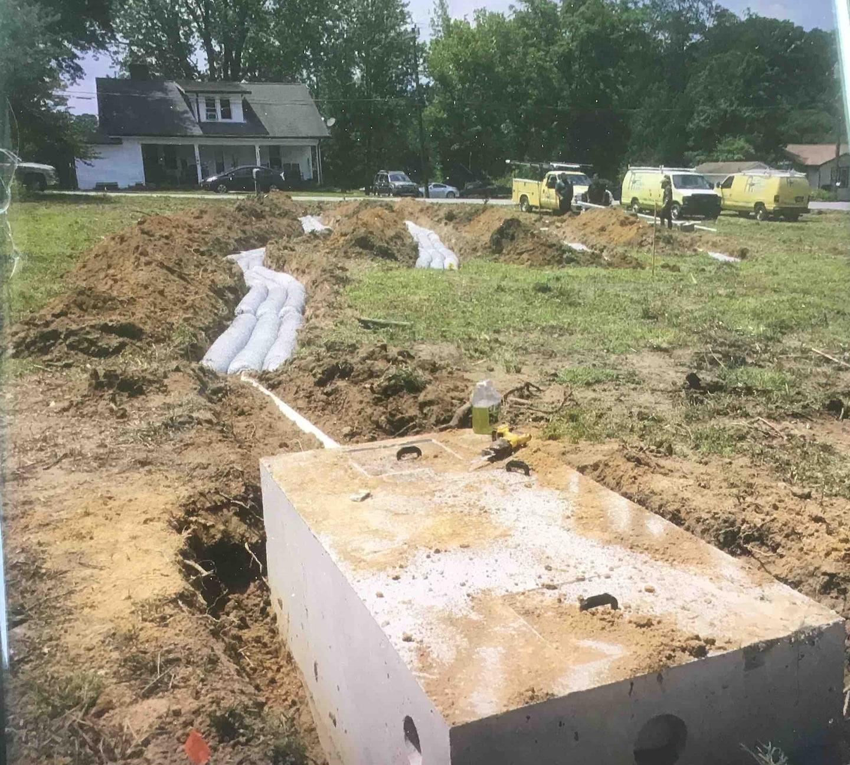 New Septic Installation Hendersonville
