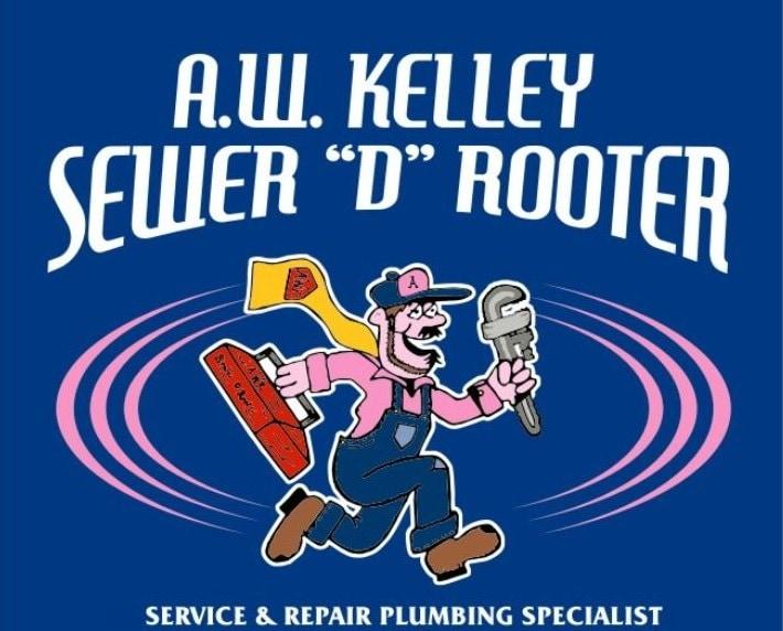 A.W.Kelley Sewer 'D' Rooter Plumbing logo