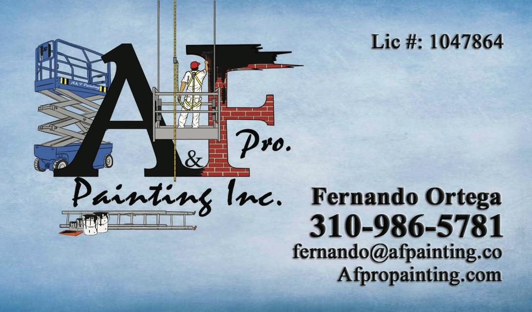 A&F pro painting inc logo