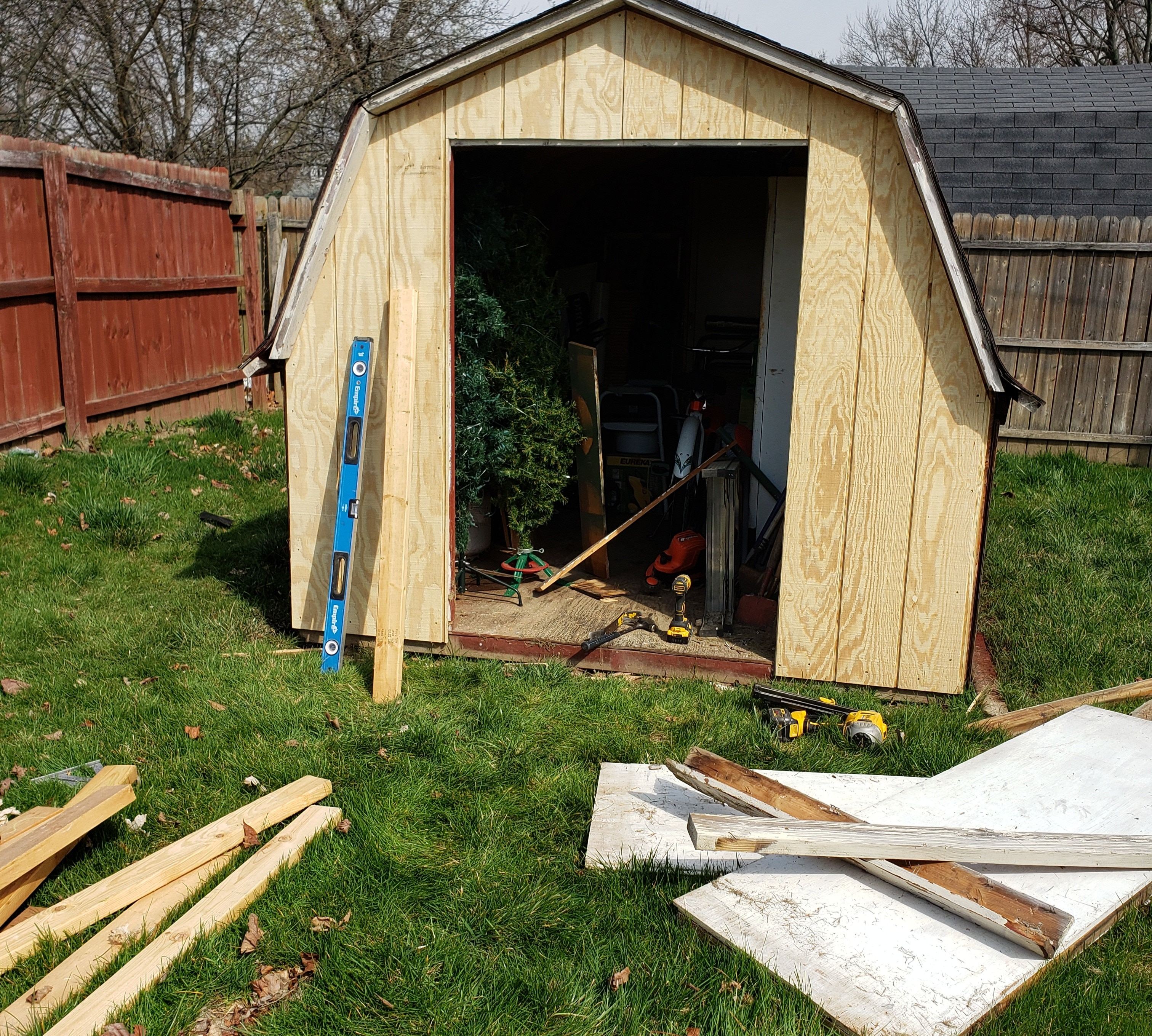 Small shed rebuild