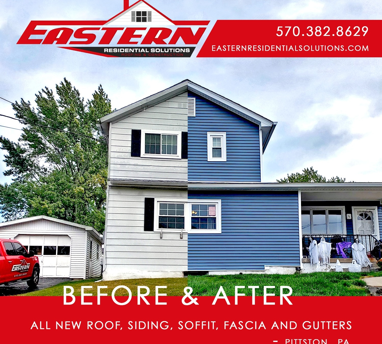 Pittston Roof, Siding, Soffit, Fascia and Gutter Replacement Project