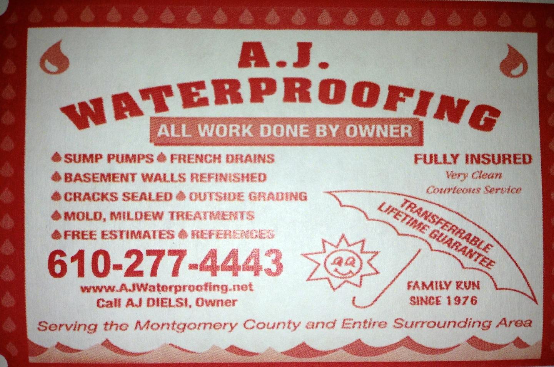 AJ Waterproofing logo