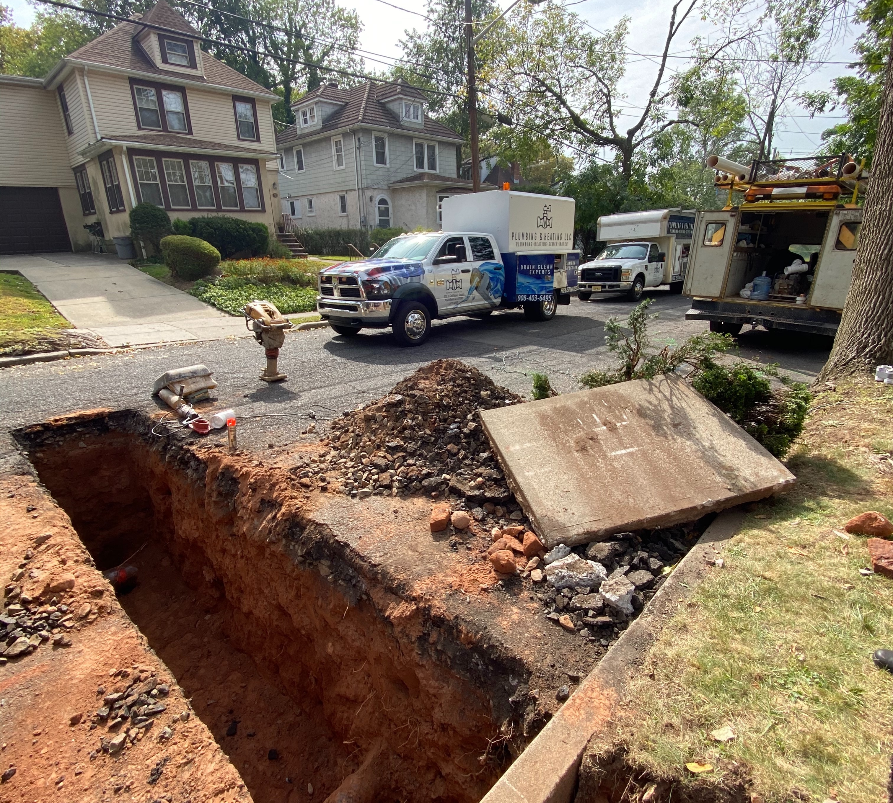 Sewer line install