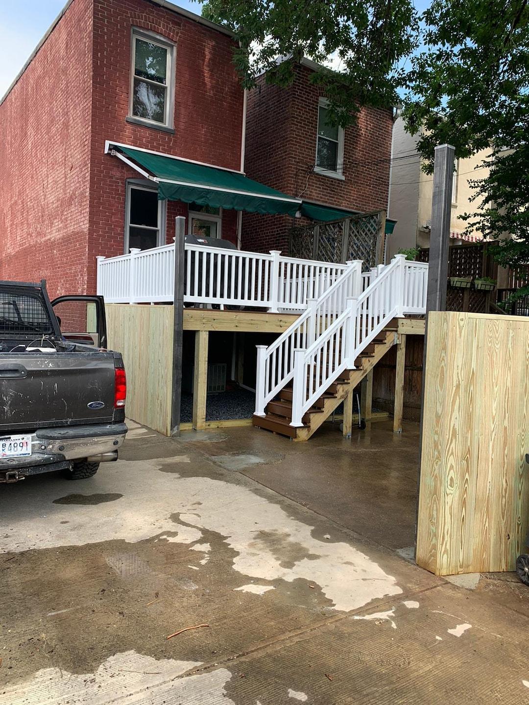 Deck, Fence & Roll Up Garage Door Construction