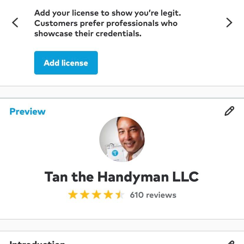 Tan the Handyman LLC logo