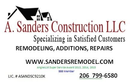 A Sanders Construction LLC logo