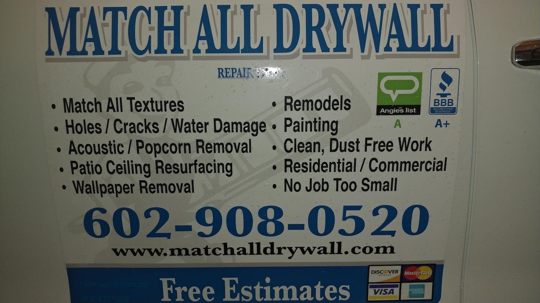 Match All Drywall Repair LLC logo