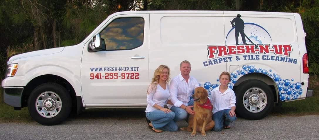FRESH-N-UP CARPET & TILE CLEANING logo