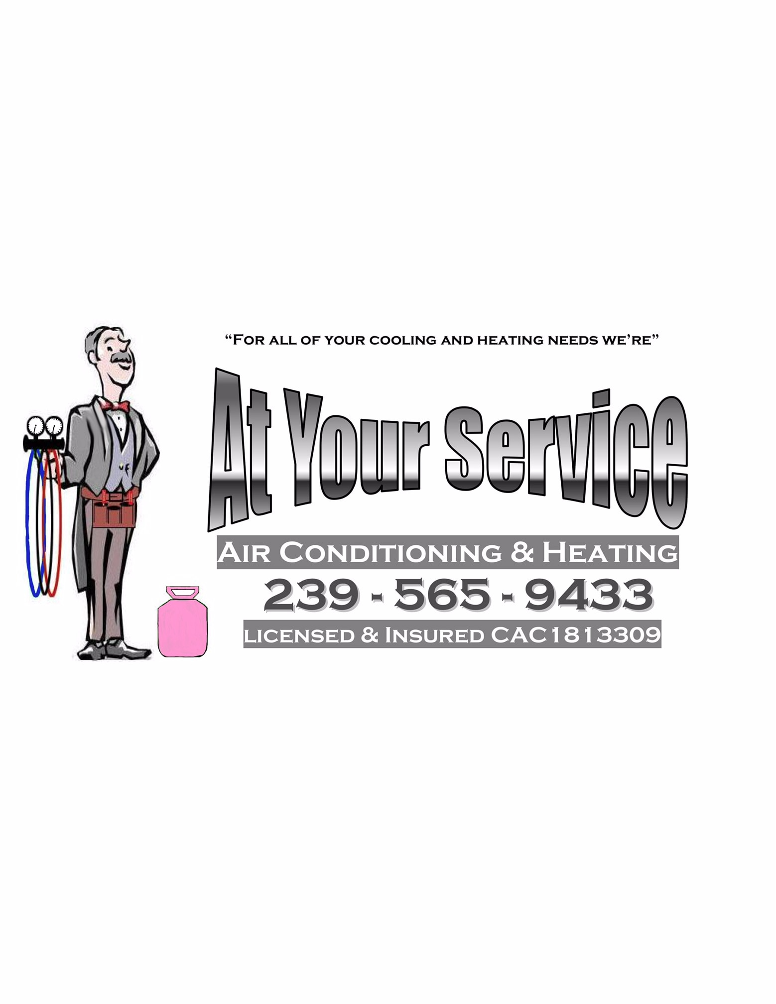 At Your Service Air Conditioning and heating Inc logo