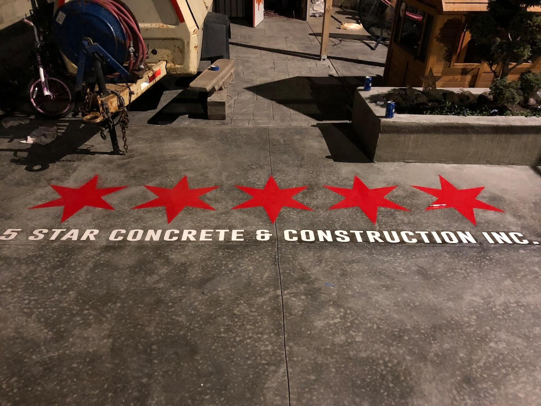 5 Star Concrete & Construction logo