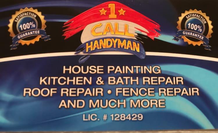 1 Call Handyman logo