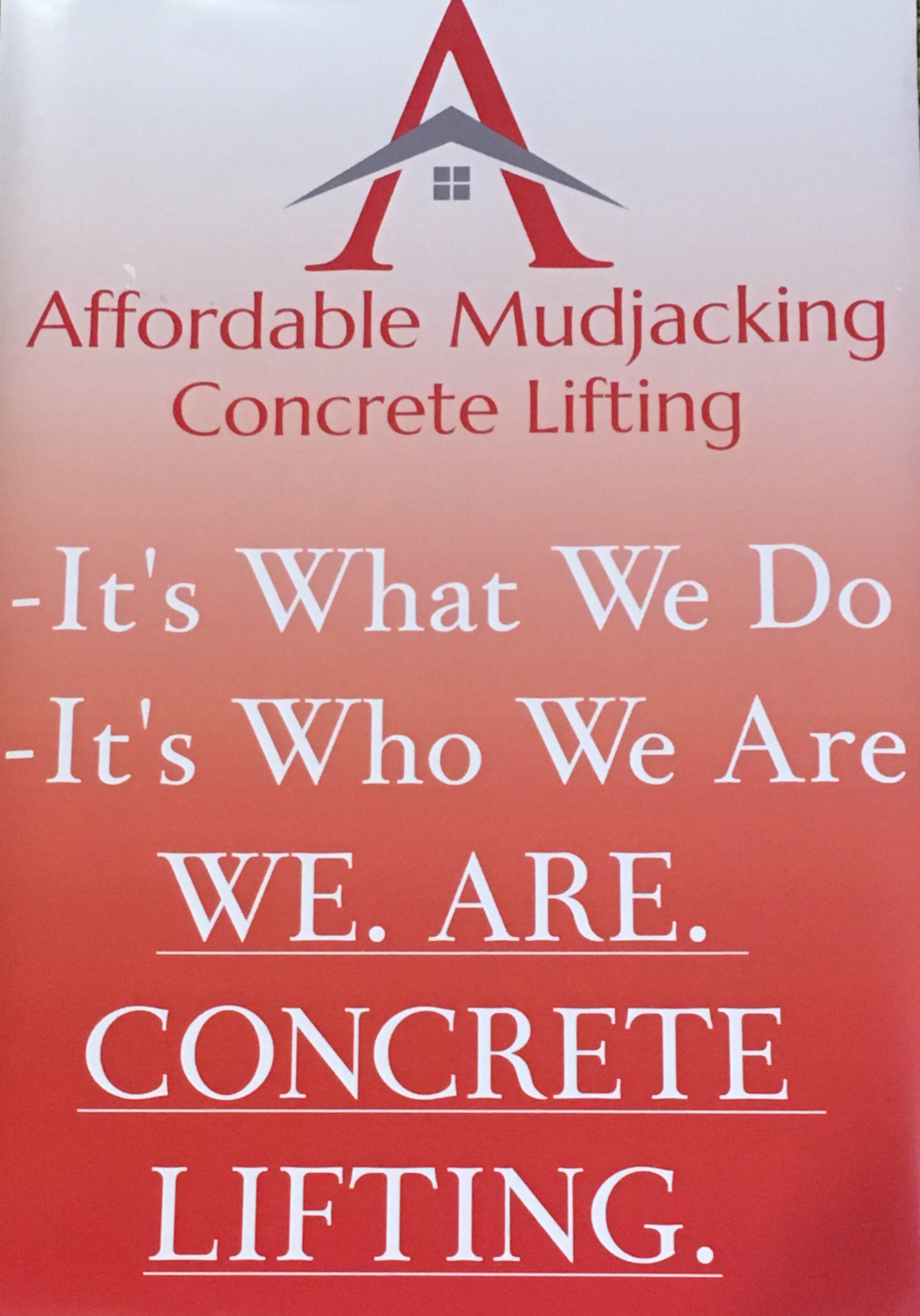 AFFORDABLE MUDJACKING logo