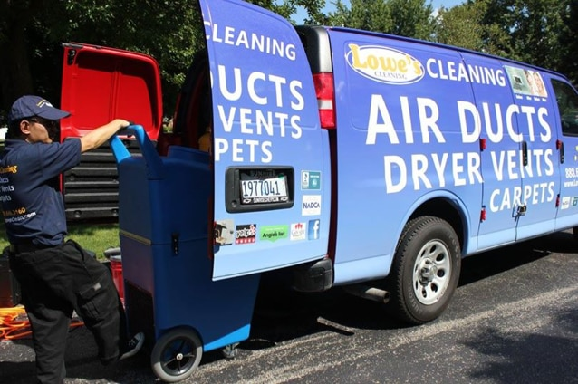 LOWE'S Air Duct Cleaning Inc. -- Unlimited Vents logo