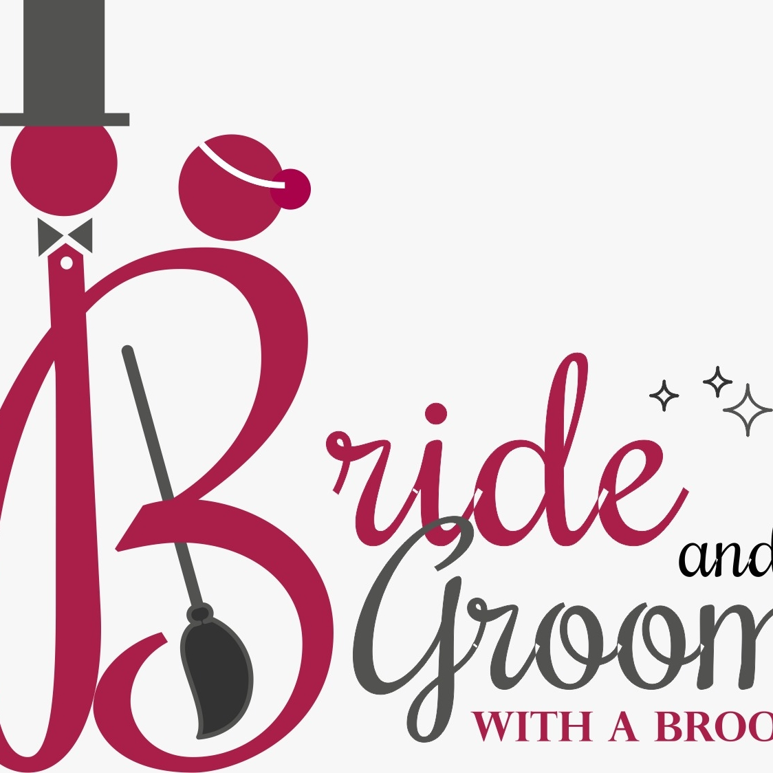 Bride And Groom With A Broom logo