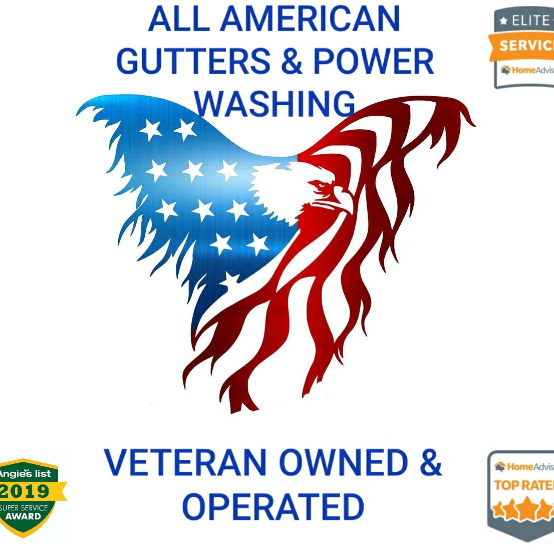 All American Gutters & Power Washing logo