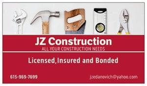 JZ CONSTRUCTION logo