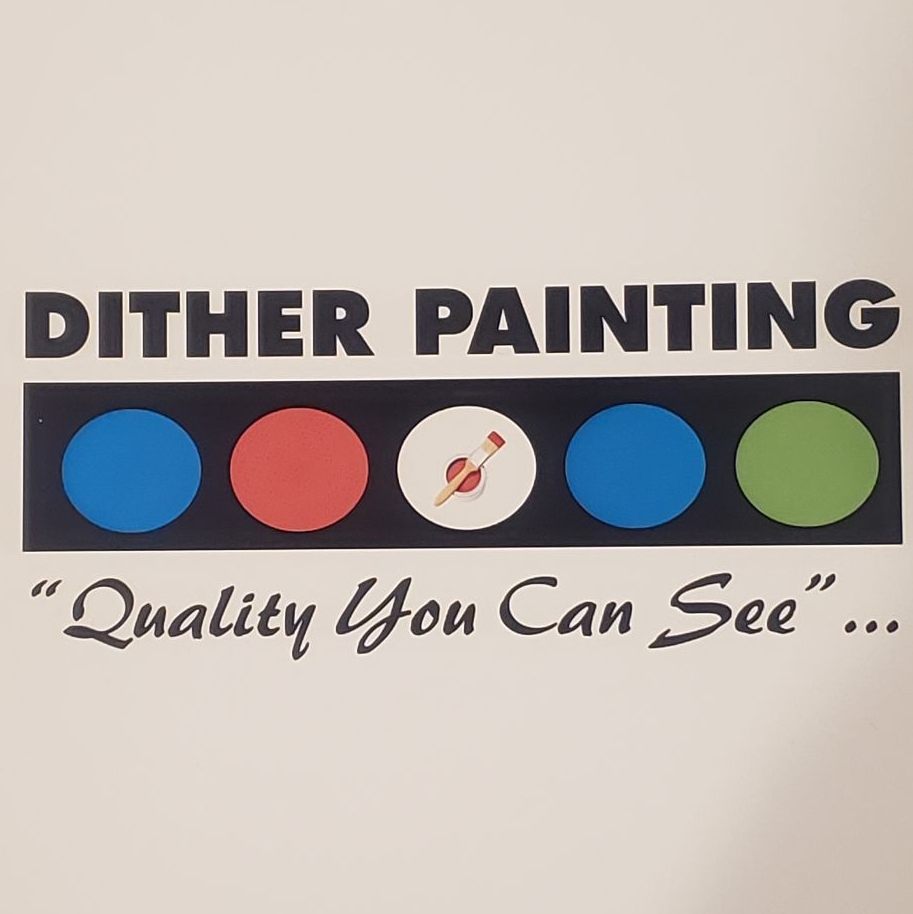 DITHER PAINTING. logo