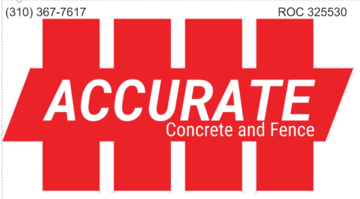 Accurate Concrete and Fence LLC logo