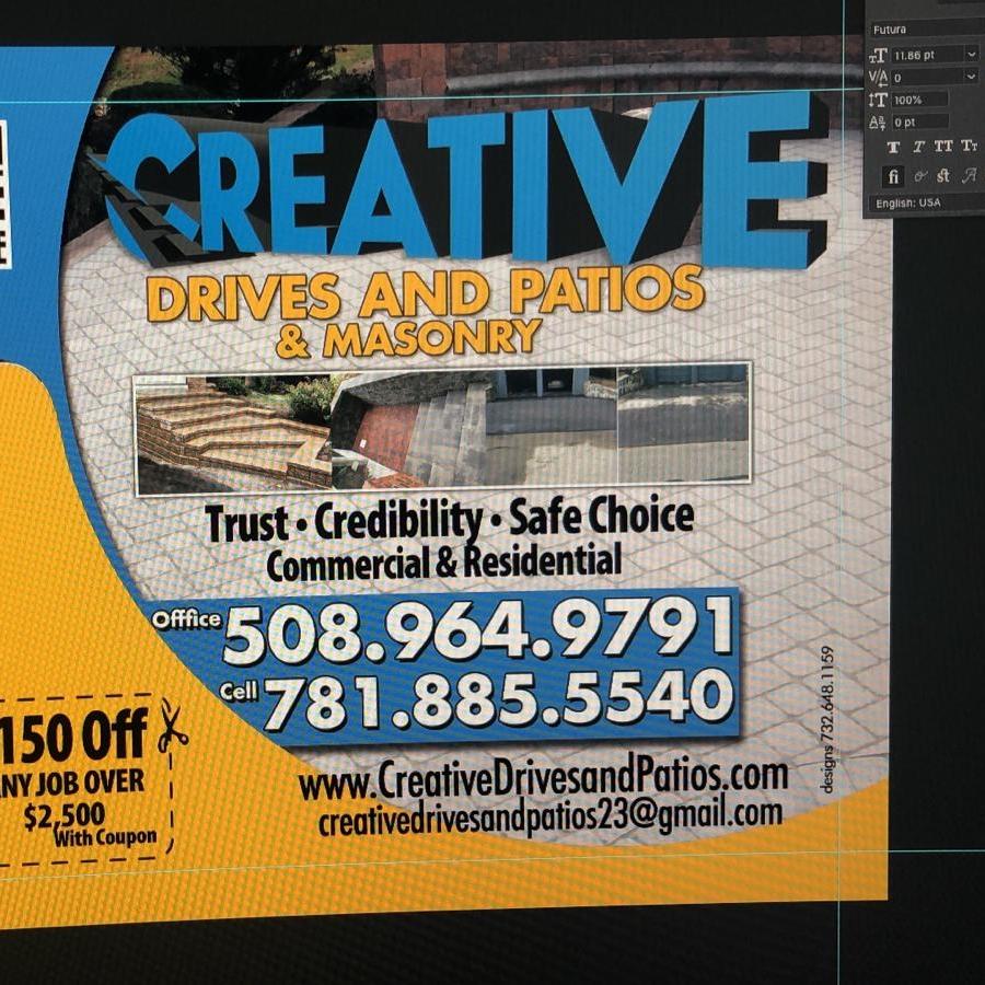 Creative Drives & Patios Masonry logo