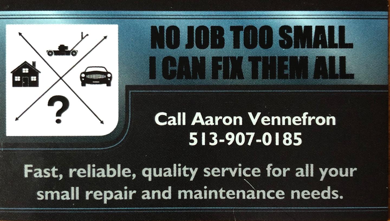 Aaron Vennefron Handyman Service logo