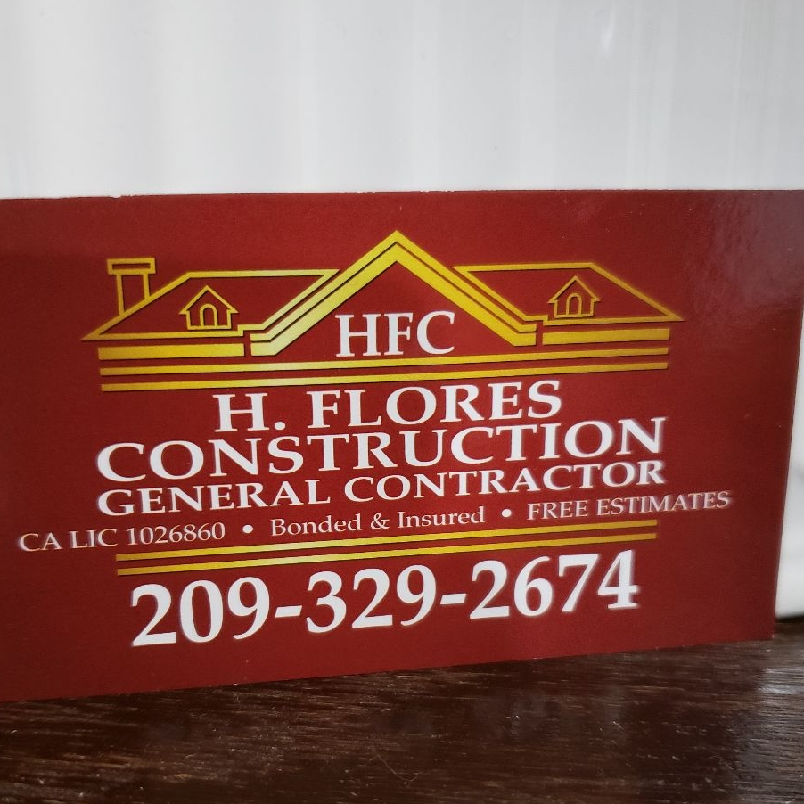 H Flores Construction logo