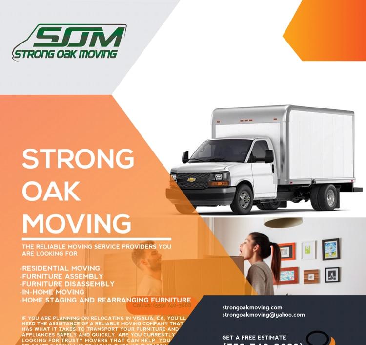 STRONG OAK MOVING logo